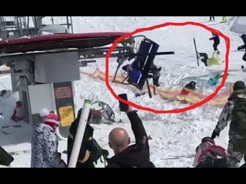 Oh my God | Mountain Vacation Center Terrible Ski Lift Accident 18+