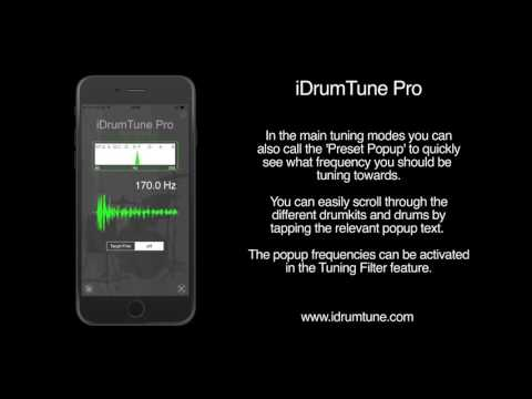 iDrumTune Pro - drum tuner and percussion tuning app overview and tutorial - drum tuning app
