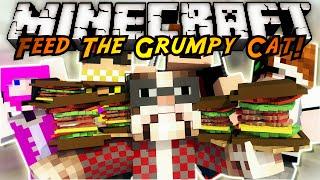 Minecraft Modded Mini-Game : FEED THE GRUMPY CAT!