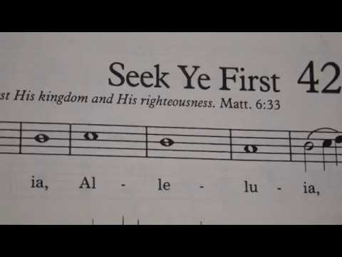 Seek Ye First Piano Instrumental Youtube