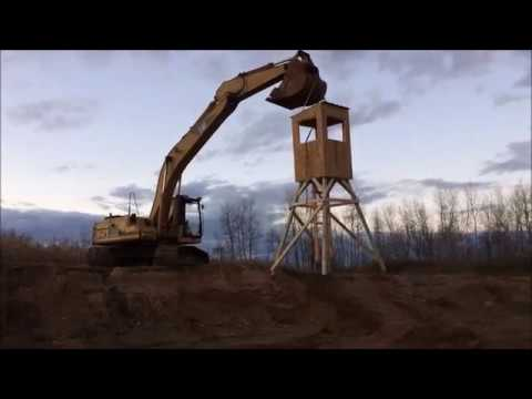 How To Build A Deer Stand 10 Minute Diy Youtube