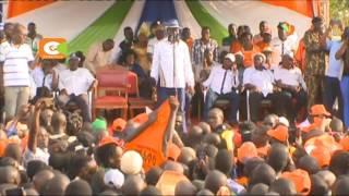 Raila awatahadharisha wenyeji wa magharibi wasihadaiwe na Jubilee