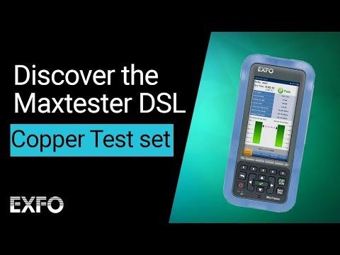 Copper test set (Voice & DSL circuits!) - Discover the Maxtester DSL