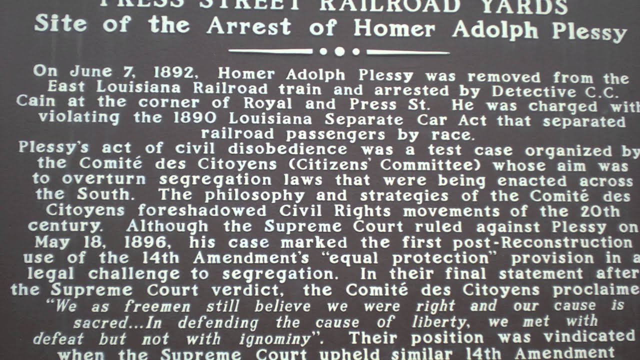 Plessy v Ferguson 1896 - YouTube