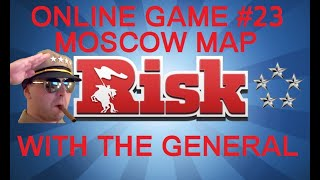 Risk Online Game #23 - Moscow Advance Map - Commentary With The General HD(Series 3)