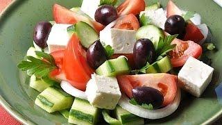 Греческий салат с сиртаки, вкусно и необычно!