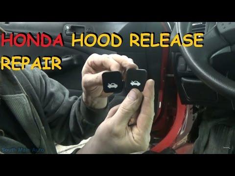 Hood Latch Release Cable Repair Kit Handle for Honda