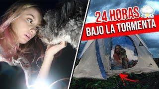 24 horas acampando bajo el huracÁn junto a mi perro guardiÁn casi muero katie angel
