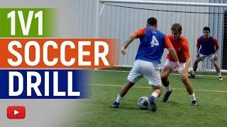 Soccer (Football) Drill - 1v1 in Penalty Area - Coach Joe Luxbacher