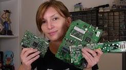 Je recycle des vieilles cartes électroniques !