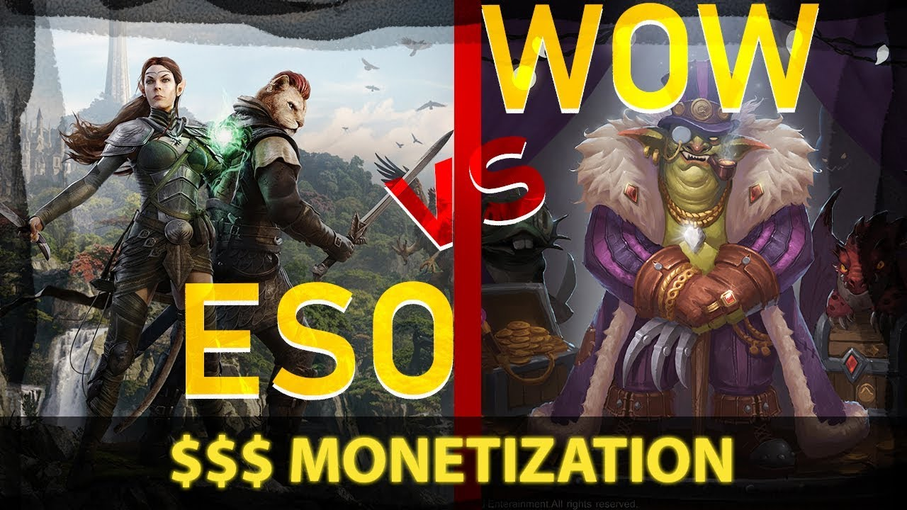 ESO vs WOW - Monetization and Microtransactions (2019)