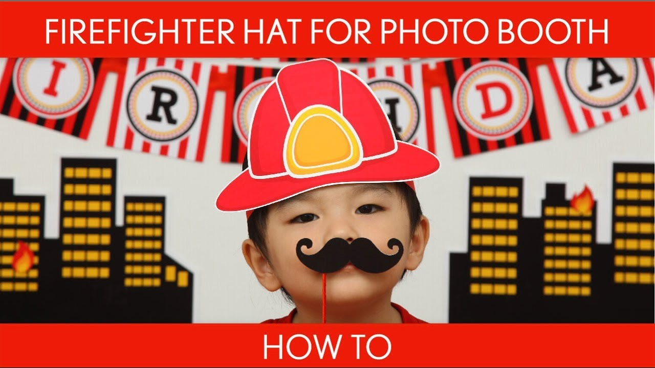 How To Make Firefighter Hat For Photo Booth Birthday Party