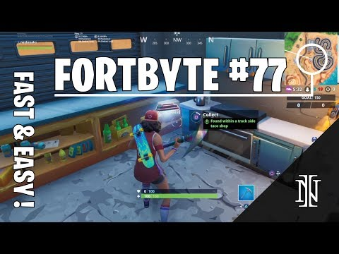 FORTBYTE 77 Location - Found Within A Track Side Taco Shop (Fortnite Season 9)