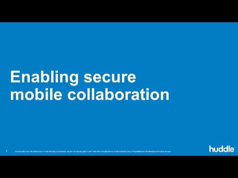 Secure mobile collaboration webinar