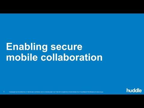 Secure mobile collaboration webinar