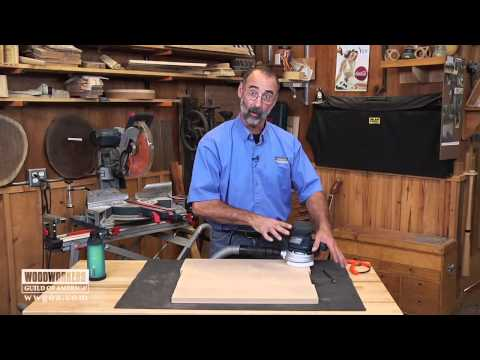 Woodworking Tools: Power Tools – Using a Random Orbit Sander