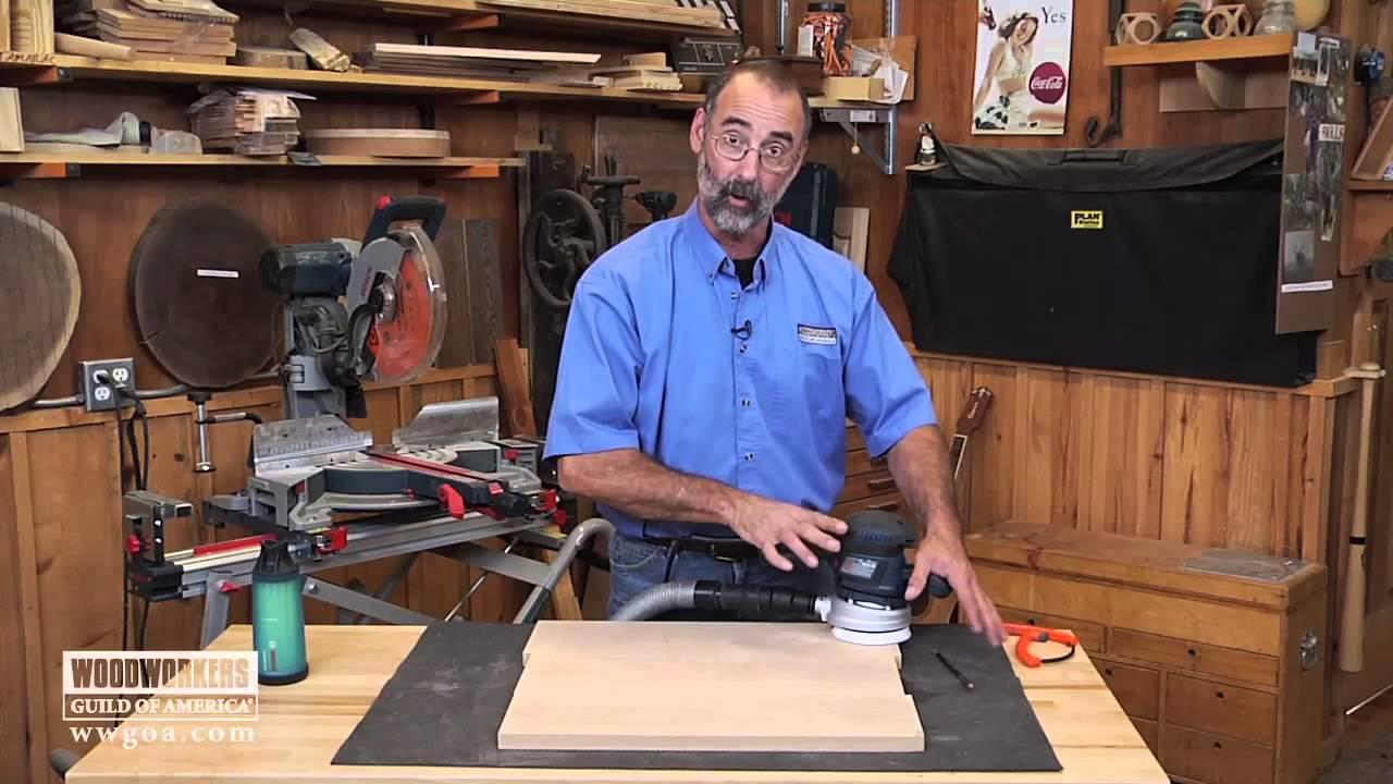 Woodworking Tools: Power Tools - Using a Random Orbit Sander - YouTube