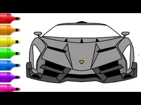 Cara Menggambar Hyper Car Lamborghini Veneno Youtube