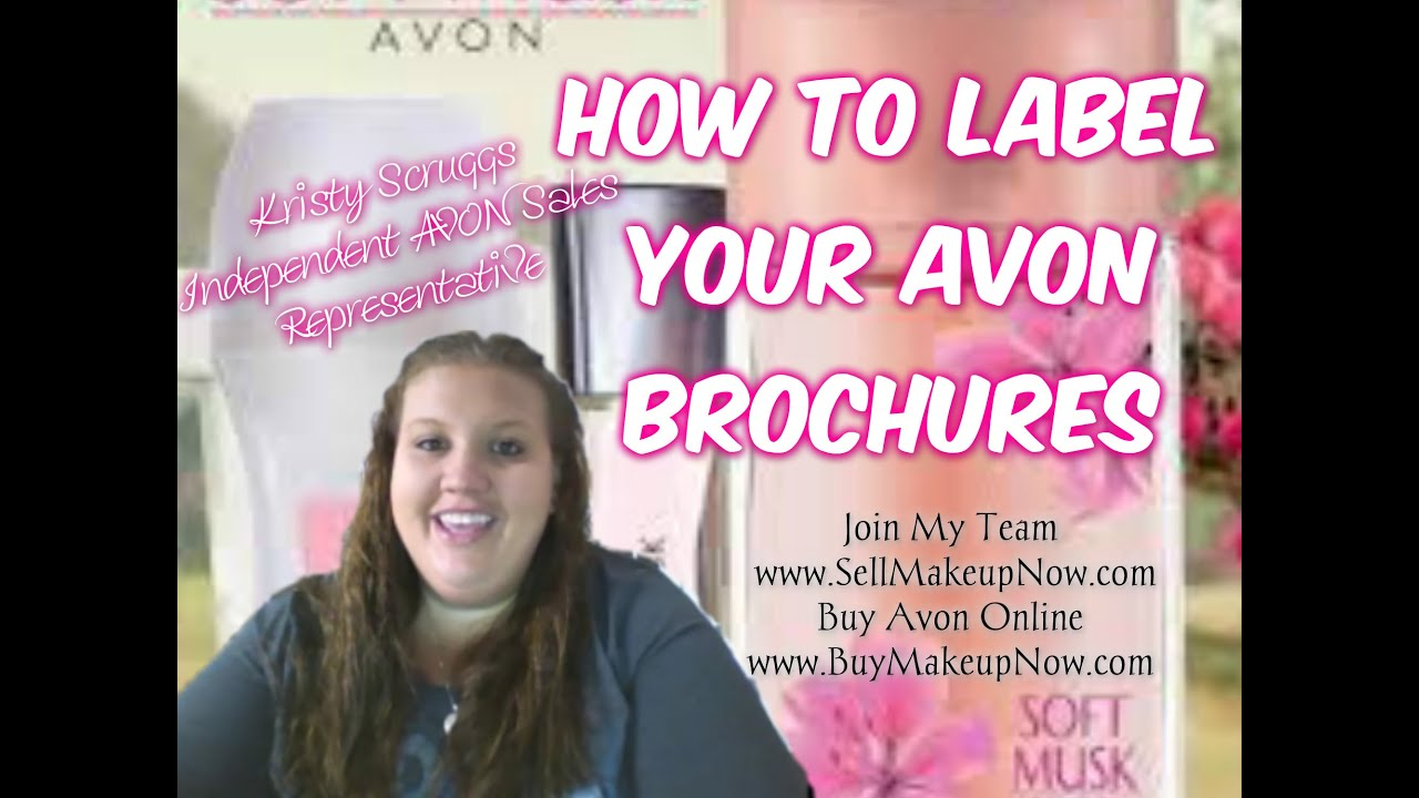 How to Label Your AVON Brochures   YouTube