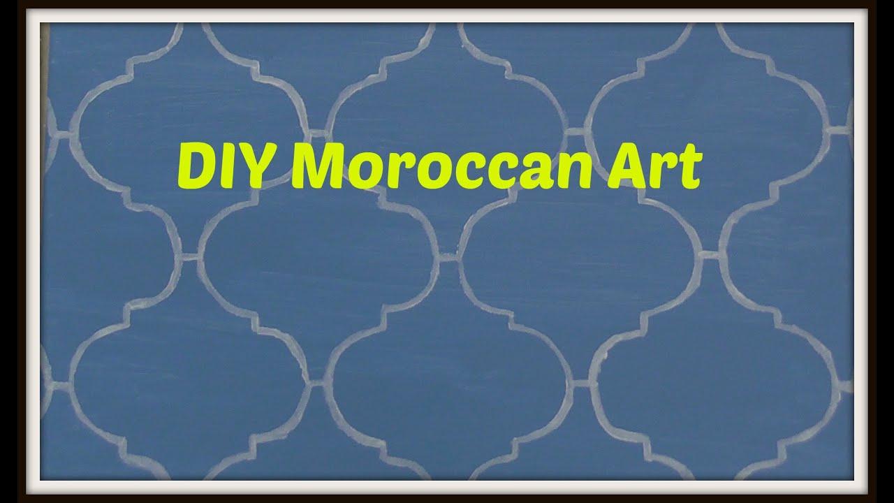 Dollar Decor: DIY Moroccan Art   YouTube