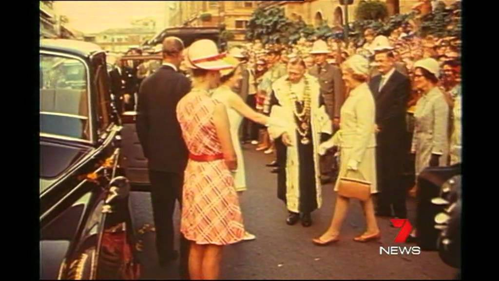 Royal Yacht Britannia Sails Into Brisbane In 1970 Seven