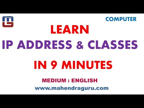 Learn IP Address & Classes In 9 Minutes : English Version