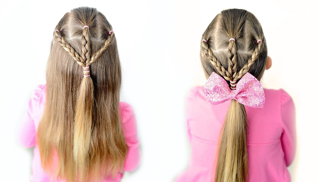 5 Minute Hairstyles For School Little Girl