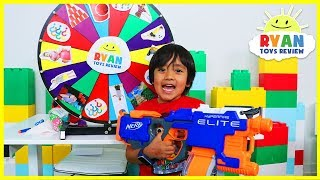 Mystery Spin Wheel Challenge Game with Ryan vs Mommy!