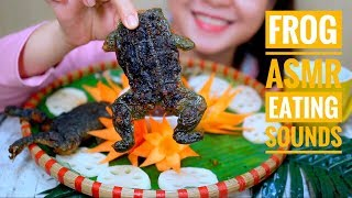 ASMR Grill and Fried Frog , Asian exotic food , EATING SOUNDS |  LINH-ASMR