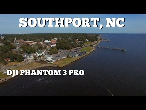 Southport NC Waterfront ~ DJI Phantom 3 In 4K