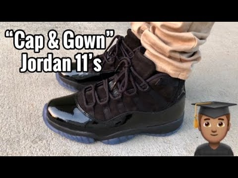 "df66c191aa08 Air Jordan 11 ""Cap and Gown"" ""Prom Night"" on feet - YouTube"