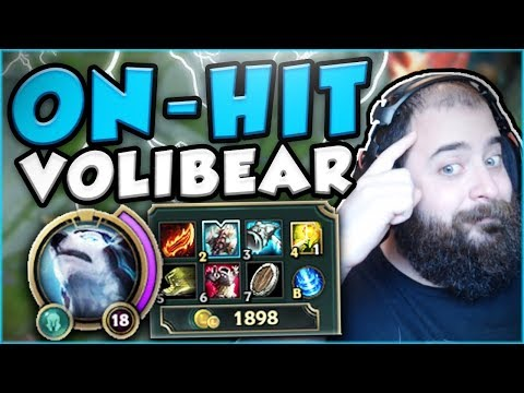 THIS ON-HIT BUILD ON VOLIBEAR IS GENIUS! NEW ON-HIT VOLIBEAR TOP GAMEPLAY! - League of Legends