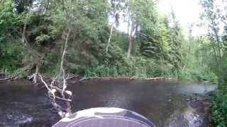 Моя первая ручьевая форель на спиннинг (видео-отчет) Рыбалка июнь 2015  В поисках пеструхи #2