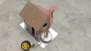 how to make electric generator | Motor generator powering a windmill and house