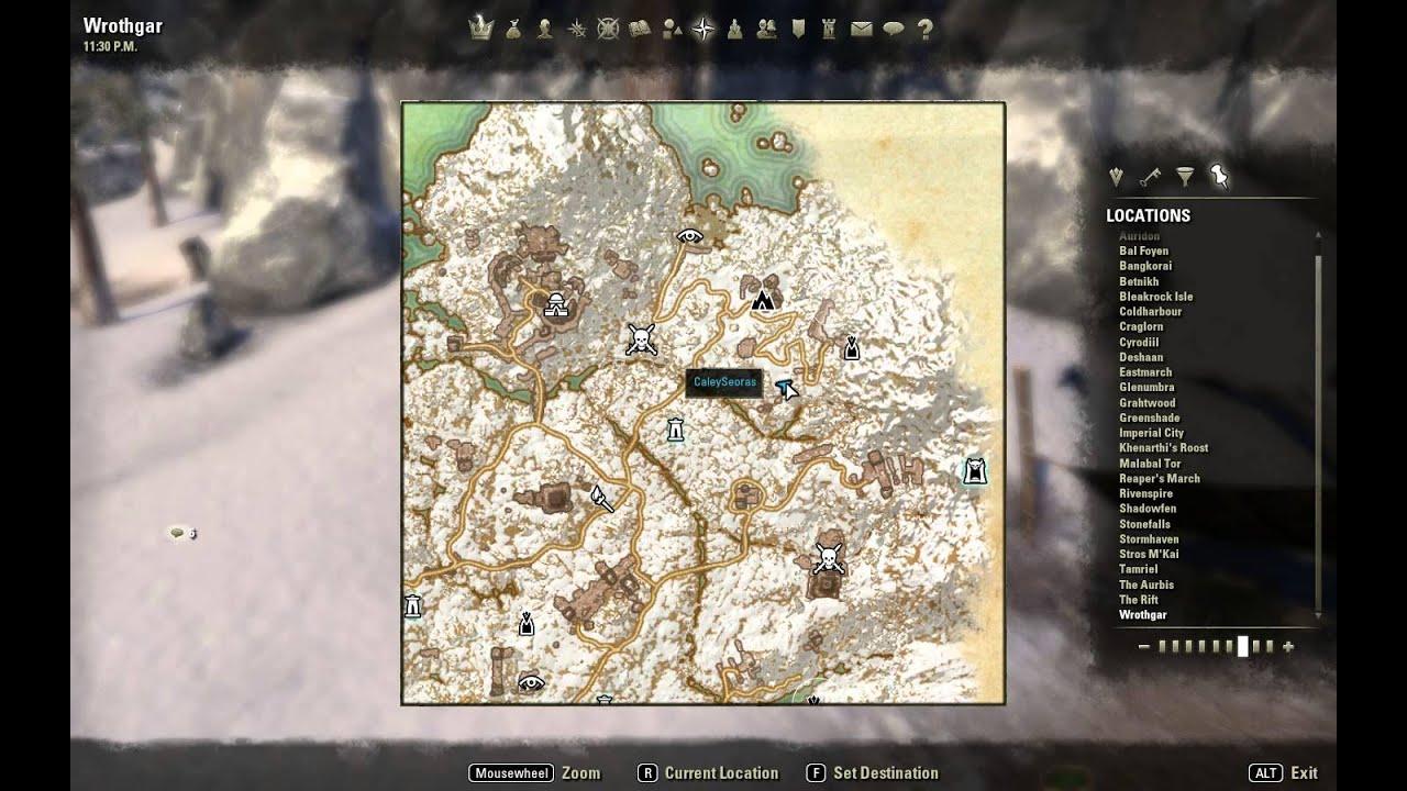 Elder Scrolls Online ESO Woodworker Survey: Wrothgar III