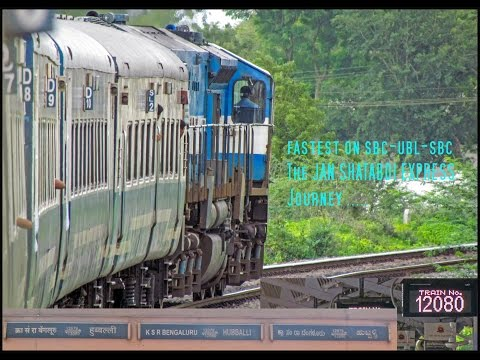 Indian railways Jan Shatabdi express journey : High speed run, skips, crossings !!