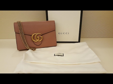 a6e3487062dd Gucci Marmont Wallet on Chain Review - YouTube