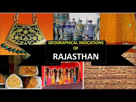 GEOGRAPHICAL INDICATIONS भौगोलिक संकेत G.I. OF RAJASTHAN