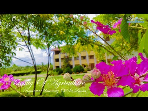 WELCOME TO THE FACULTY OF AGRICULTURE   RAJARATA UNIVERSITY OF SRI LANKA