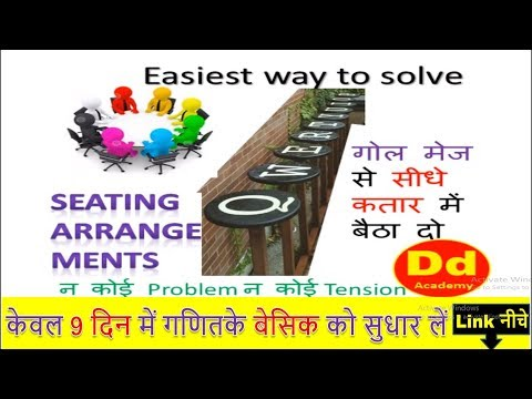 Circular Seating Arrangement Youtube Presentation  in Hindi