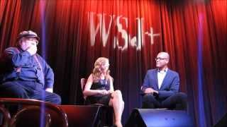 Jackie Evancho with George R.R. Martin - Wall Street Journal Cafe -  WSJ - 10.27.14