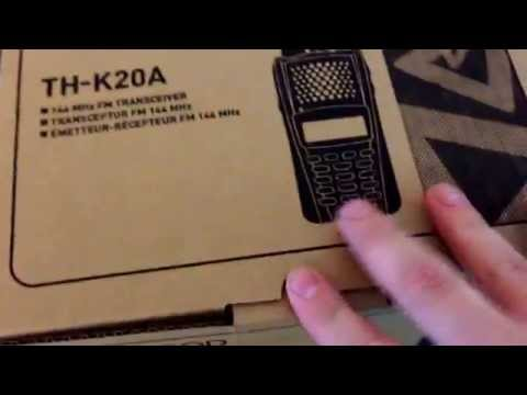 Kenwood TH-K20A 144 MHz HT Unboxing And Assembly.