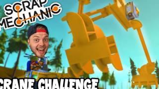 scrap mechanic crane challenge [FAIL]vs ashdubh - 34 GamePlay | HD