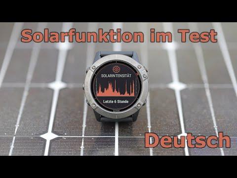 Garmin fenix 6X Pro Solar Test der Solarladung