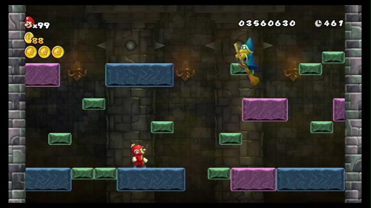 New Super Mario Bros Wii 100 Walkthrough Part 17 World 8 8