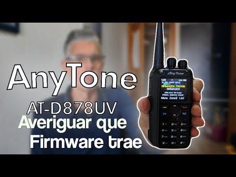 Anytone 878 - 878/plus Averiguar versión firmware