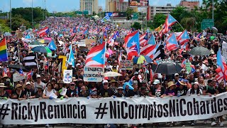 Watch live: Puerto Ricans hold massive protest to demand governor's resignation