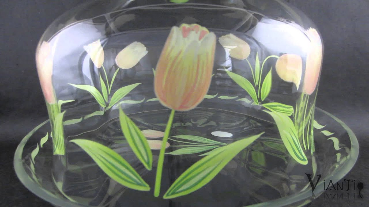 Princess House Cottage Tulip Crystal Cake Plate With Cover Glass - YouTube & Princess House Cottage Tulip Crystal Cake Plate With Cover Glass ...