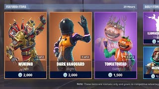 WUKONG & DARK VANGUARD SKINS! (Fortnite Item Shop 26th March)