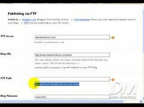 Blogger FTP Hosting | How To
